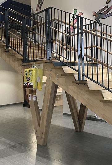 Escaliers structure charpente
