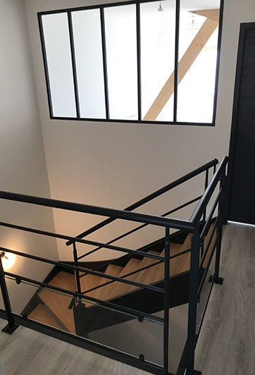 Escalier bois métallique