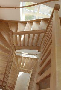 Escalier superposé sur 3 niveaux